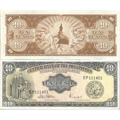 Billets de collection Billet de banque collection Philippines - PK N° 136 - 10 Pesos Billets des Philippines 6,00 €