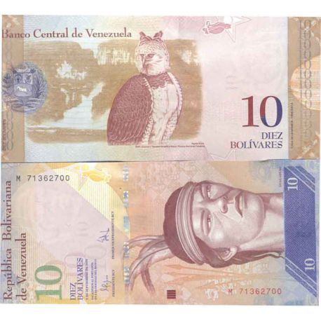 Billet de banque collection Venezuela - PK N° 90 - 10 Bolivares