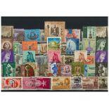 Sammlung gestempelter Briefmarken Palästina