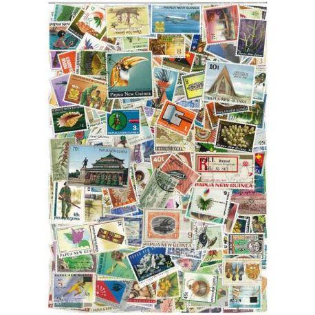 Collection de timbres Papouasie Nlle Guinee oblitérés