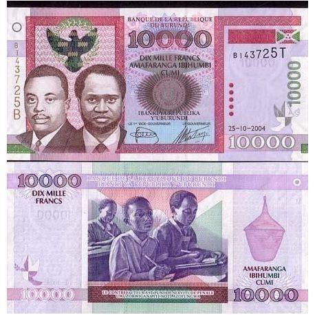 Burundi - Pk No. 43 - 10000 Franks ticket