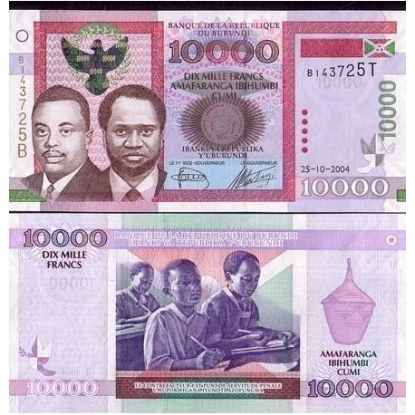 Billets de collection Billet de collection Burundi Pk N° 43 - 10000 Francs Billets du Burundi 49,00 €