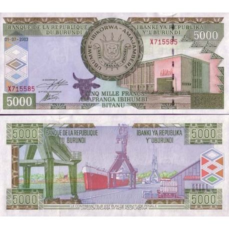 Billets de collection Billet de banque Burundi Pk N° 42 - 5000 Francs Billets du Burundi 24,00 €