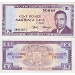 Billet de collection Burundi Pk N° 29 - 100 Francs