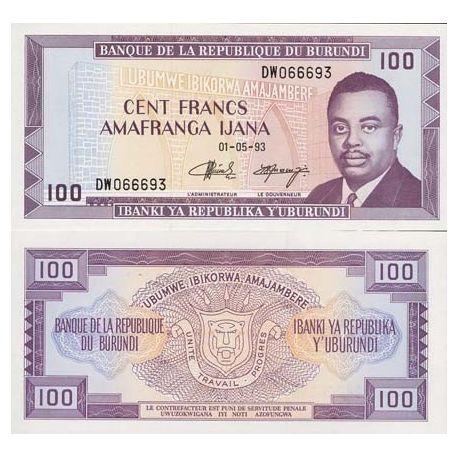 Burundi - Pk: # 29 - 100 note Franks