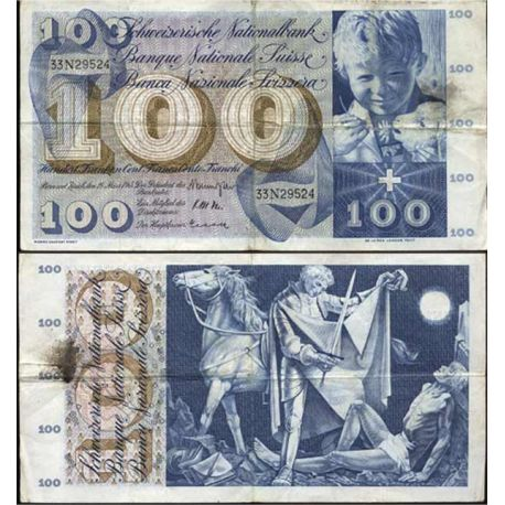 Billets collection Suisse - 100 Francs SaintMartin Pk 49 TTB