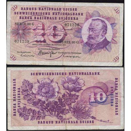 Billets collection Suisse - 10 Francs G. Keller Pk 45 TB+
