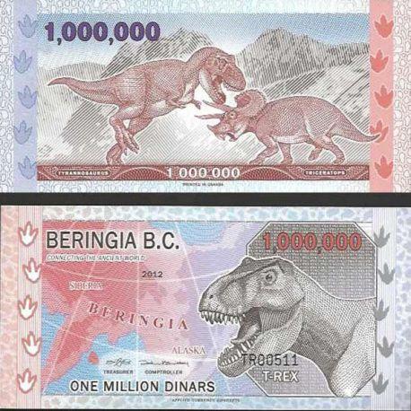 Billet Antarctique Beringia B.C. 1000000 Dinars