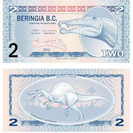 Billet Antarctique Beringia B.C. 2 Dinars