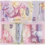 Billet de banque collection Bermudes - PK 58 - 5 Dollars