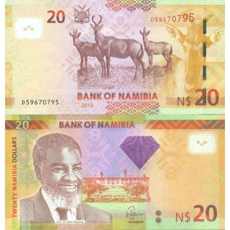 Billet de banque collection Namibie - PK N° 999 - 20 Dollars