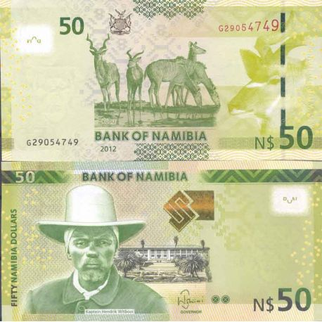 Billets de collection Billet de banque collection Namibie - PK N° 13 - 50 Dollars Billets de Namibie 14,00 €
