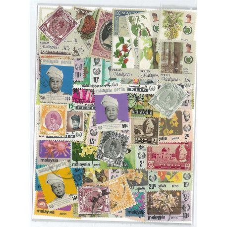 Perlis - 10 verschiedene Briefmarken