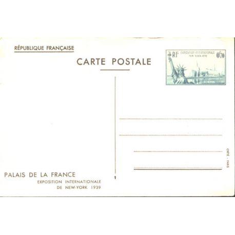 Entier Postal Expo. Internationale de New York 1939