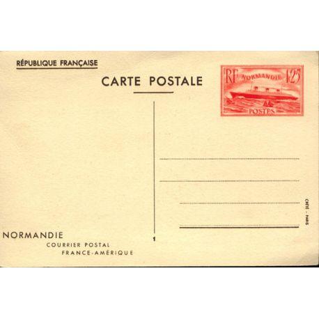 Entier Postal N° 299 Normandie 1939