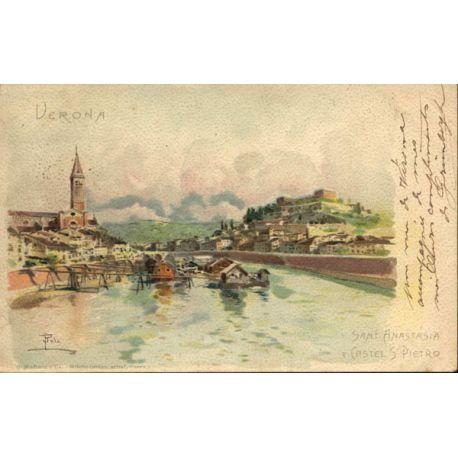 Carte postale Italie - Verona - St Anastasia Litho.