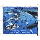 Bloc de 4 timbres des Iles Salomon - Mammifères Marins