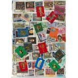 Sammlung gestempelter Briefmarken Peru