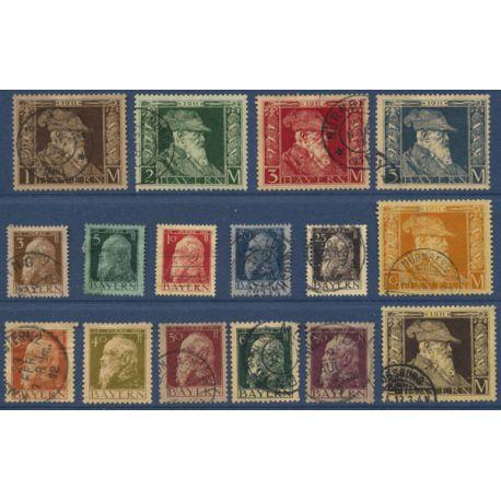 Bavière Timbres N° 76 à 91 oblitérés