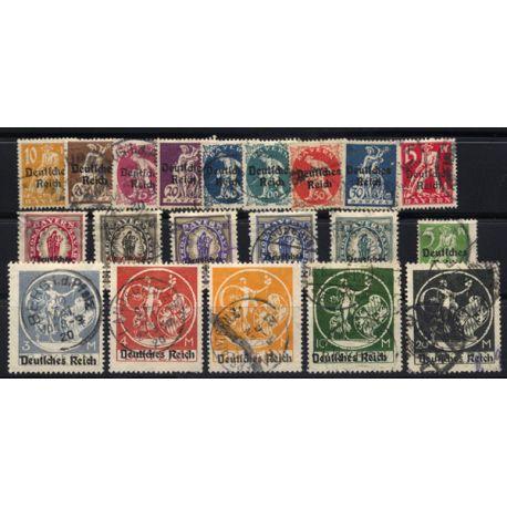 Bavière Timbres N° 196 à 215 oblitérés