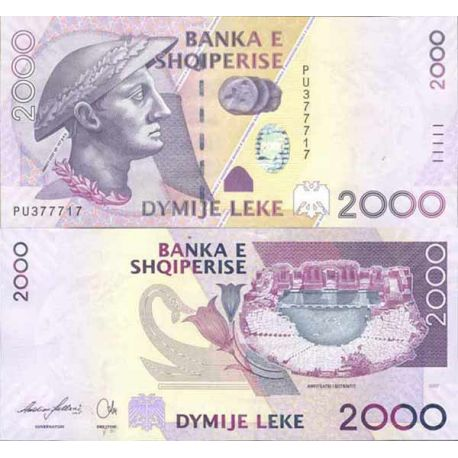 Billet de banque collection Albanie - PK N° 74 - 2000 Leke