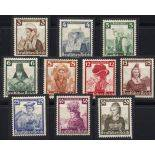 Germany Stamps N° 547 to 556 unused with hinges - Costumes