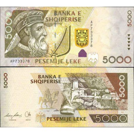 Billet de banque collection Albanie - PK N° 75 - 5000 Leke