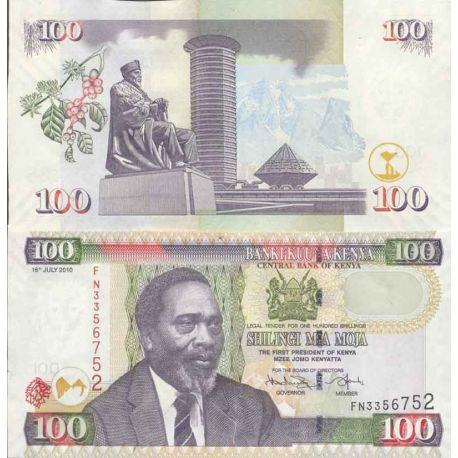 Billets de collection Billet de banque collection Kenya - PK N° 48 - 100 Shilling Billets du Kenya 6,00 €