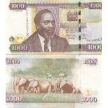 Billet de banque collection Kenya - PK N° 51 - 1000 Shilling