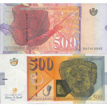 Billets de collection Billet de banque collection Macedoine - PK N° 17 - 500 Denari Billets de Macedoine 41,00 €