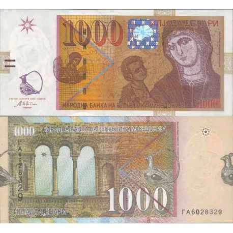 Billets de collection Billet de banque collection Macedoine - PK N° 18 - 1000 Denari Billets de Macedoine 49,00 €