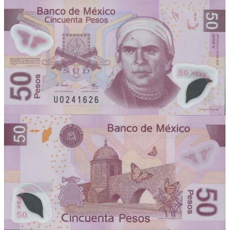 Billet de banque collection Mexique - PK N° 123 - 50 Pesos