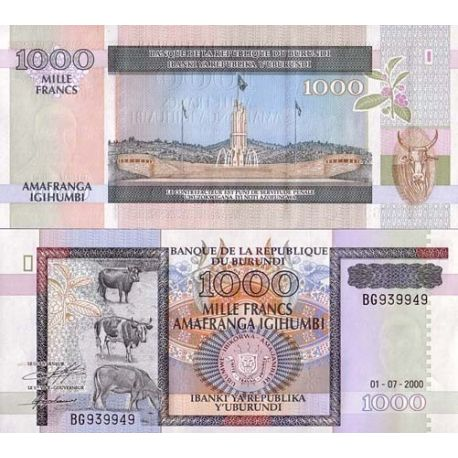 Billets de collection Billet de banque Burundi Pk N° 39C - 1000 Francs Billets du Burundi 8,00 €