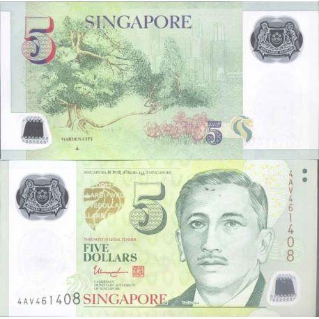 Billet de banque collection Singapour - PK N° 47 - 5 Dollars