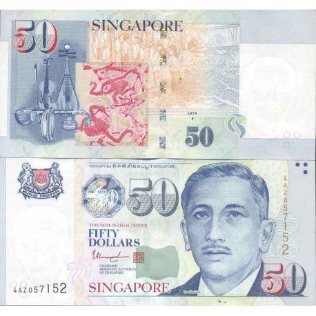 Billet de banque collection Singapour - PK N° 49 - 50 Dollars