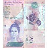 Billet de banque collection Venezuela - PK N° 91 - 20 Bolivares