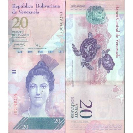 Billet de banque collection Venezuela - PK N° 91 - 20 Bolivares