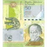 Beautiful banknote Venezuela Pick number 92 - 50 Bolivar 2007