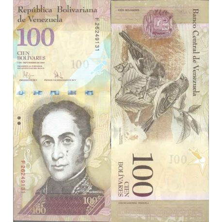 Billet de banque collection Venezuela - PK N° 93 - 100 Bolivares