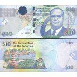 Collection of Banknote Bahamas Pick number 73 - 10 Dollar 2005