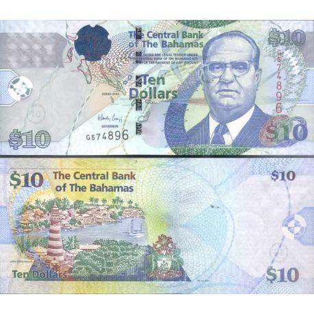 Bahamas - Pk N° 73 - Billet de 10 Dollar