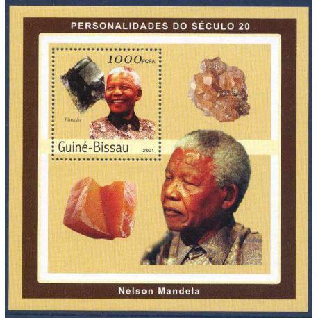 Collection Timbres Hommes Celebres Bloc timbre Guinée Bissau - Nelson Mandela et Minéraux à partir de 8,00 €