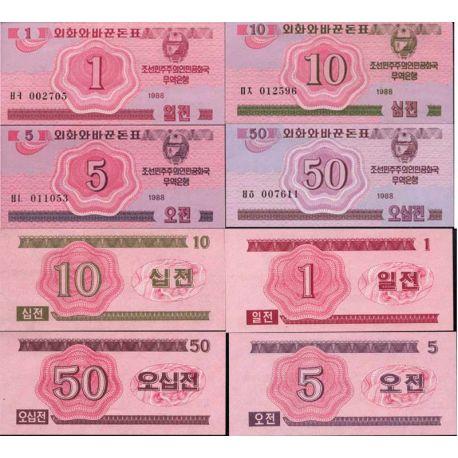 Coree du Nord - Pk 31 à 34 - 1 à 50 chon