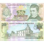 Banknoten Sammlung Honduras Pick Nummer 92 - 20 Lempira