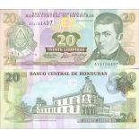 Billets de banque HONDURAS Pk N° 92 - 20 Lempira