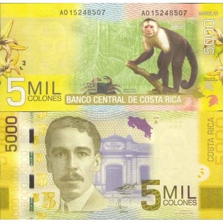 Billet de collection Costa Rica Pk N° 276 - 5000 Colones