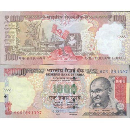 Billets de collection Billets de collection Inde Pk N° 107 - 1000 Rupees Billets d'Inde 49,00 €