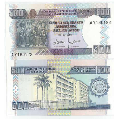 Burundi - Pk No. 45 - 500 Francs ticket