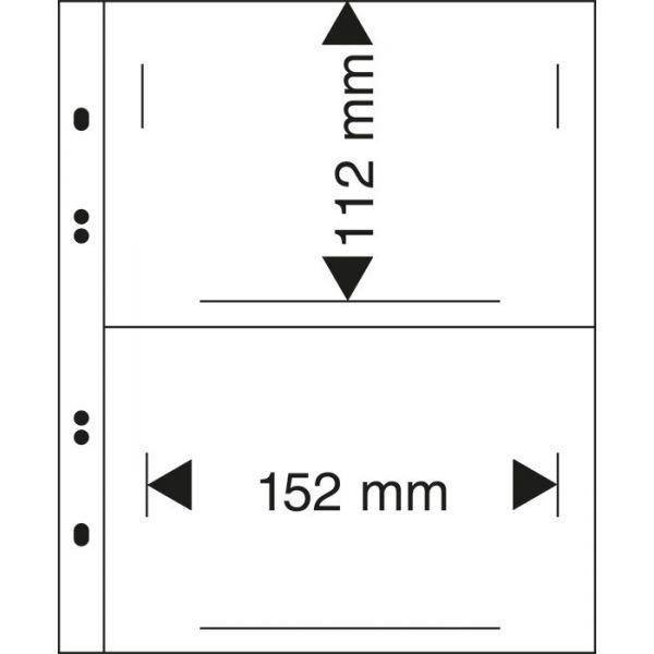 Lindner Mu1330 Multi Collect Blätter-schwarz Briefmarken Klebefälze & Klebestreifen