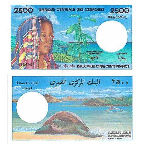 Billets de collection Billet de banque collection Comores - PK N° 13 - 2500 Francs Billets des Comores 144,00 €